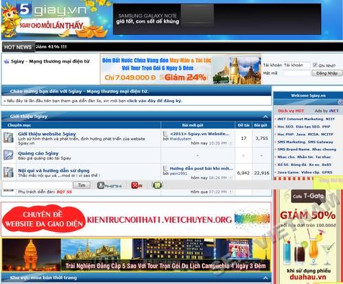 5giay 10 Website mua bán trực tuyến hàng đầu tại Việt Nam
